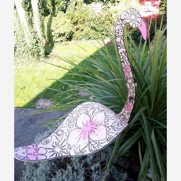 Flamant rose jardin japonais d co jardin zen jardin de cur - Flamant rose deco jardin ...