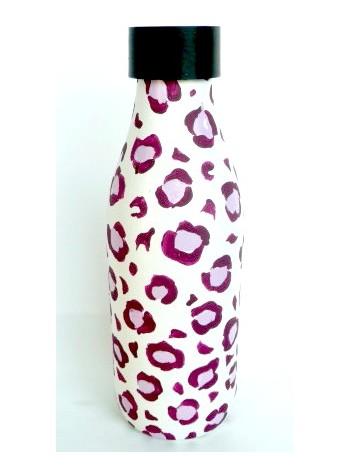 Bouteille ASTREOS (léopard ,rose violet)