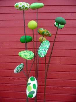 Verticale fleur plante verte